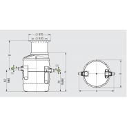 Odlučovač tukov Euro G NS 2 DN 110 č. 93002/120B, pre podzemnú inštaláciu