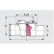 Spätná klapka Staufix Typ 1 DN 125, č. 72125