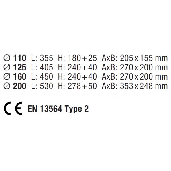 Spätná klapka Staufix Typ 2 DN 125, č. 73125