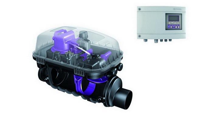 Ako funguje hybridná čerpacia stanica Pumpfix F?  Gravitačne a prevažne bez elektriny.