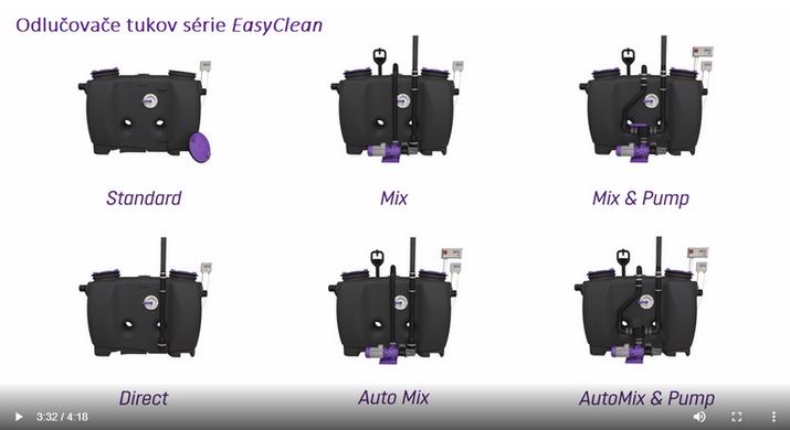 VIDEO - Možnosti likvidácie tukov u série EasyClean od firmy KESSEL