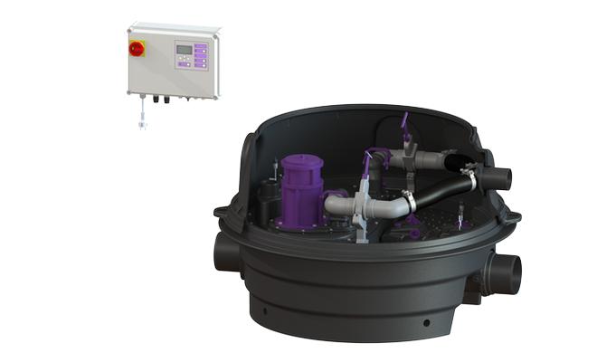 Hybridná čerpacia stanica na odpadové vody